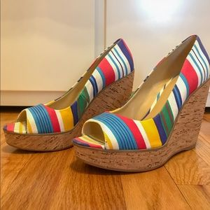 Nine West Rainbow Wedges! Only Worn Once!
